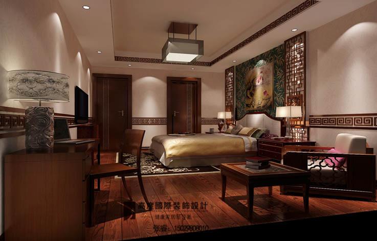 卧室图片来自摔倒了不想起来在美式古典,大气、舒适典雅的分享
