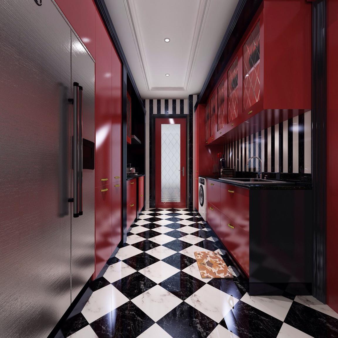 厨房图片来自JingYiPrize人居空间设计大赛在邵英鹏-龙湖长楹天街的分享