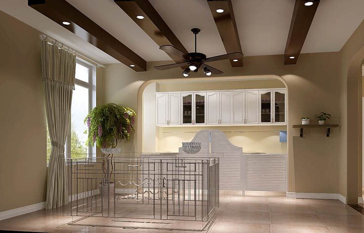 田园 三居 装修 设计 楼梯图片来自张邯在高度国际-长滩壹号的分享