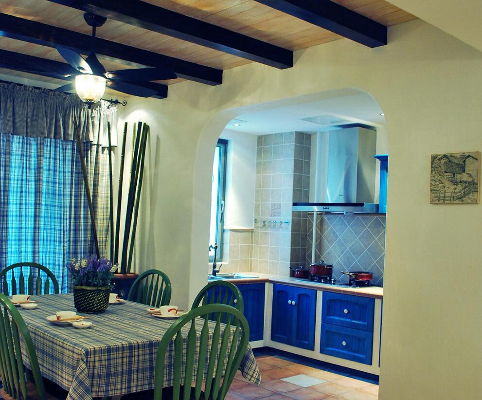 餐厅图片来自四川幸福魔方装饰在【置信学府杏林】地中海风格的分享