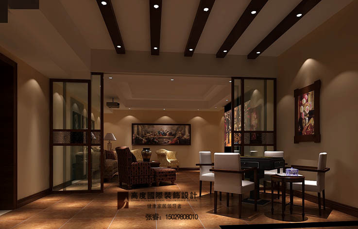客厅图片来自摔倒了不想起来在美式古典,大气、舒适典雅的分享