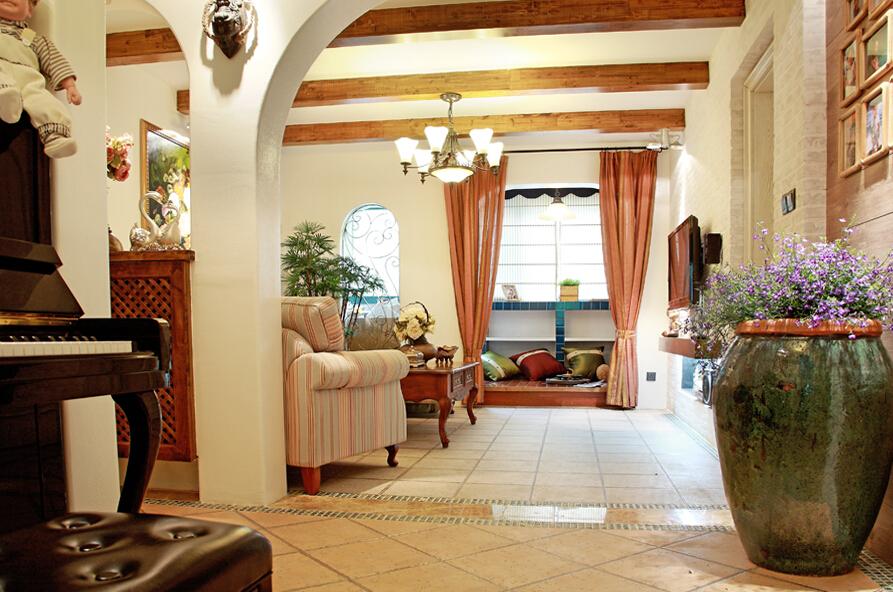客厅图片来自四川幸福魔方装饰在【龙湖时代天街】地中海风格的分享
