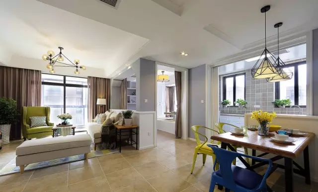 简约 欧式 田园 混搭 二居 三居 别墅 收纳 旧房改造 客厅图片来自实创装饰晶晶在124㎡美式风大两居的分享
