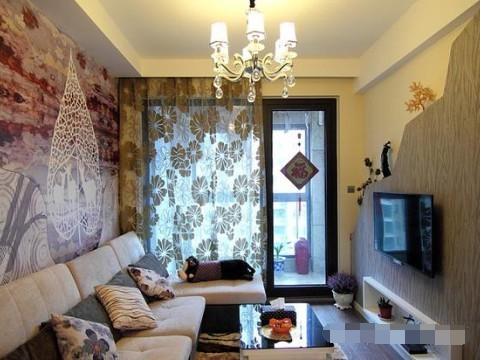简约 二居 客厅图片来自西安紫苹果装饰工程有限公司在兴盛家园的分享