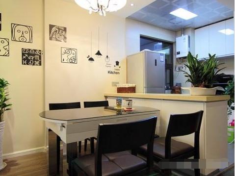 简约 二居 餐厅图片来自西安紫苹果装饰工程有限公司在兴盛家园的分享