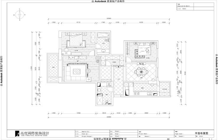 三居 简约 装修 设计 户型图图片来自张邯在高度国际-濠景阁的分享