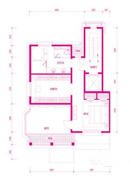 鲁能7号别墅四居两厅四卫户型图