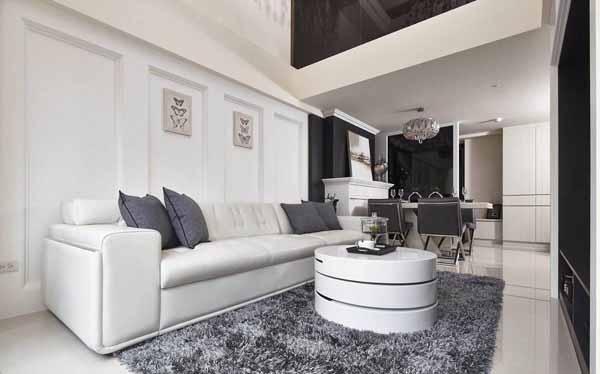 客厅图片来自上海潮心装潢设计有限公司在149平欧式风格复式装修设计样板的分享