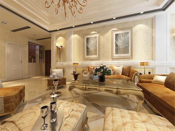 利用现代欧式风格简洁时尚大方的特点,给人带来一种舒适、恬静的氛围,同时根据房型特点充分发挥了房子的实用性。