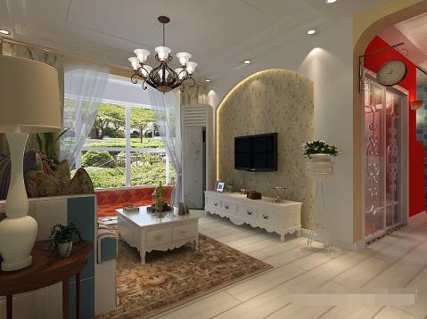 二居 田园 客厅图片来自西安紫苹果装饰工程有限公司在东尚观湖的分享