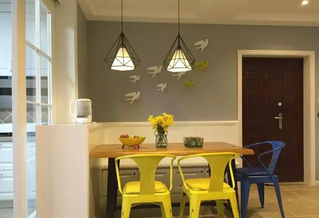 简约 欧式 田园 混搭 二居 三居 别墅 收纳 旧房改造 餐厅图片来自实创装饰晶晶在124㎡美式风大两居的分享