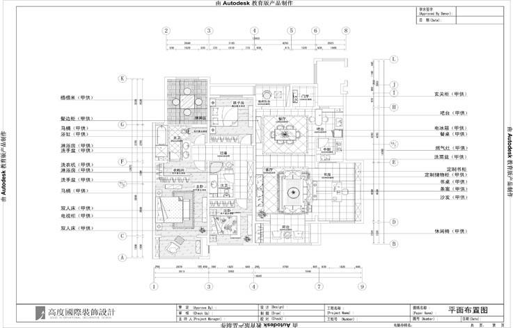 古典 设计 装修 三居 户型图图片来自张邯在高度国际-金色漫香苑3的分享
