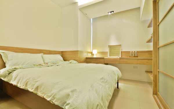 简约 旧房改造 卧室图片来自上海潮心装潢设计有限公司在47平米简约风格一室一厅装修的分享