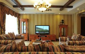 美式 三居 80后 小资 舒适 简单 客厅图片来自武汉全有装饰在福星惠誉福星华府---美式风的分享