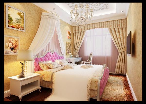 帐篷式的儿童房,充满了公主味的调皮气息,高贵的紫色陪衬下,显得更有公主风范了。