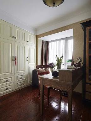 美式 地中海 混搭 二居 收纳 旧房改造 书房图片来自沙漠雪雨在90平米美式混搭地中海浪漫婚房的分享