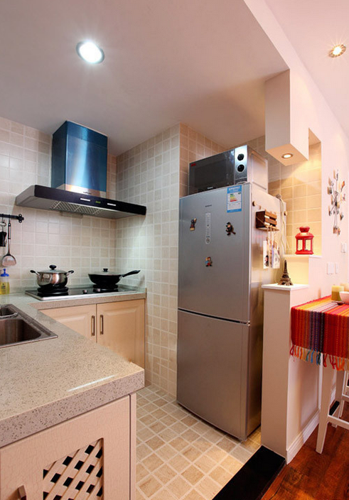 简约 厨房图片来自西安紫苹果装饰工程有限公司在天下荣郡的分享