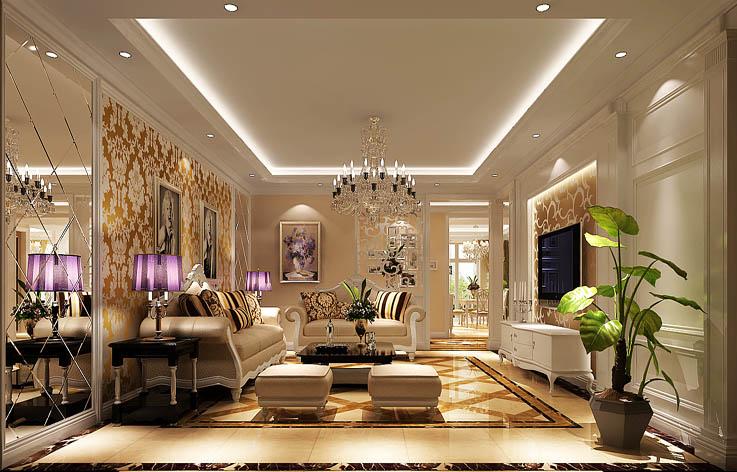 欧式 三居 装修 室内家装 设计 客厅图片来自张邯在高度国际-华侨城的分享