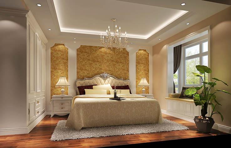 欧式 三居 装修 室内家装 设计 卧室图片来自张邯在高度国际-华侨城的分享