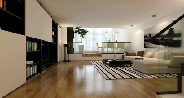 客厅:整个空间以简洁舒适为主,白色简洁的沙发与黑白厅书柜的结合,空间的大量留白,给人更多无限的遐想。