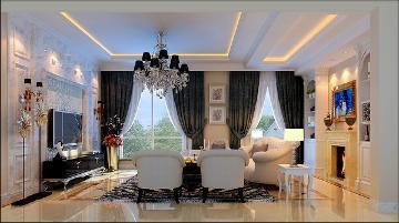 四居室现代简约欧式风格装修美图