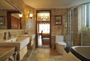 美式 三居 80后 小资 舒适 简单 卫生间图片来自武汉全有装饰在福星惠誉福星华府---美式风的分享
