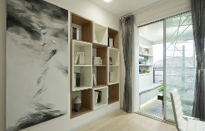 简约 三居 现代 温馨 书房图片来自重庆天地和豪装工厂店在外形简洁的现代风格设计的分享