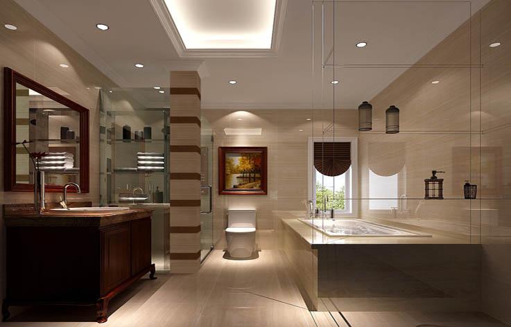 欧式 四居 大平层 装修 设计 卫生间图片来自张邯在高度国际-中铁花语城4的分享