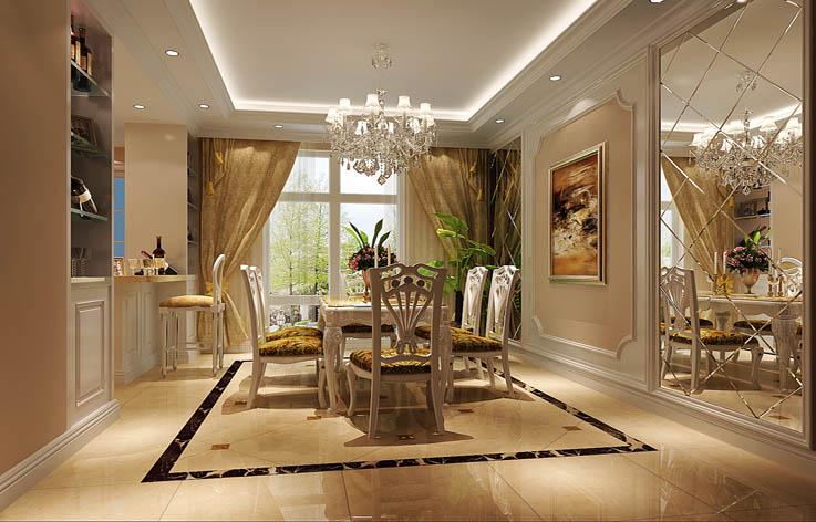 欧式 三居 装修 室内家装 设计 餐厅图片来自张邯在高度国际-华侨城的分享