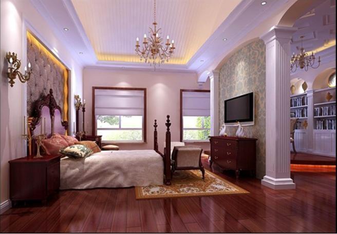 卧室图片来自北京居然元洲装饰小尼在古典别墅300平米的分享