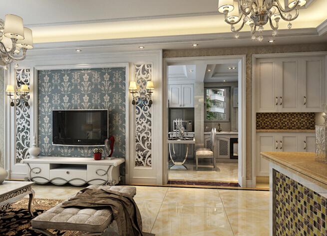 奥北公元 欧式装修 客厅图片来自大宅别墅装修设计在欧式风格装修设计丨奥北公元的分享