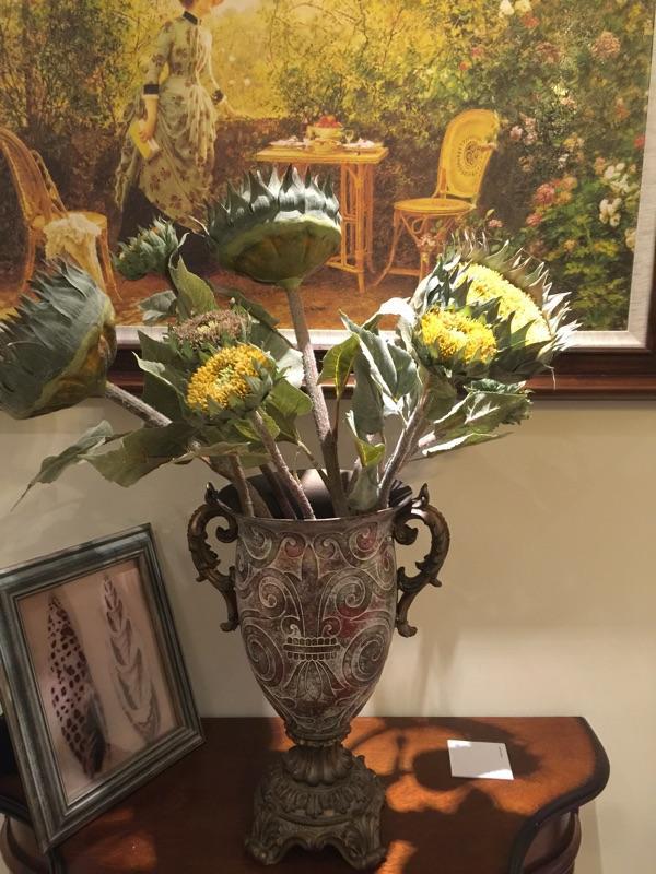 欧式复古做旧客厅花瓶