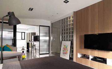66平米简约风格二室一厅装修案例