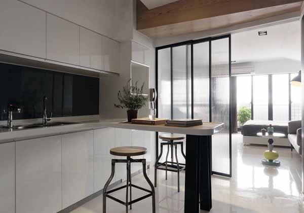 简约 二居 旧房改造 厨房图片来自上海潮心装潢设计有限公司在66平米简约风格二室一厅装修案例的分享