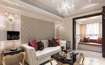 113平欧式风格三室装修设计案例