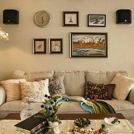 90平三室装修美式混搭设计显品位