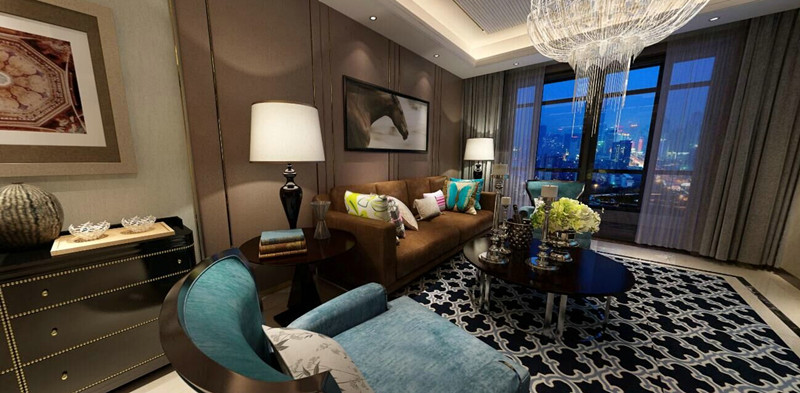港式 三居 客厅图片来自武汉一号家居网装修在都会轩97平港式3室2厅的分享