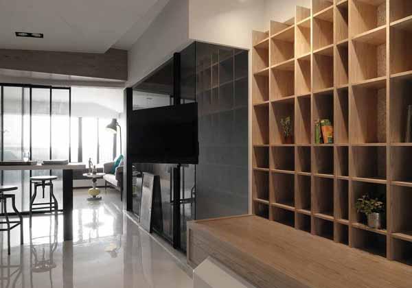 简约 二居 旧房改造 客厅图片来自上海潮心装潢设计有限公司在66平米简约风格二室一厅装修案例的分享