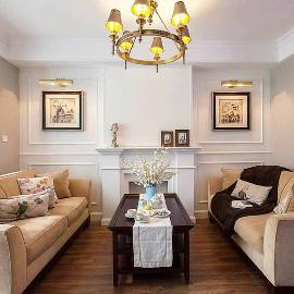68平美式风格二室两厅装修样板房