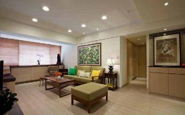 虹梅新苑119平混搭三室两厅装修