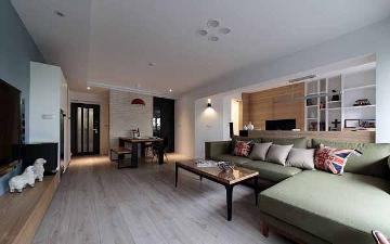 紫晶南园112平北欧三室装修设计