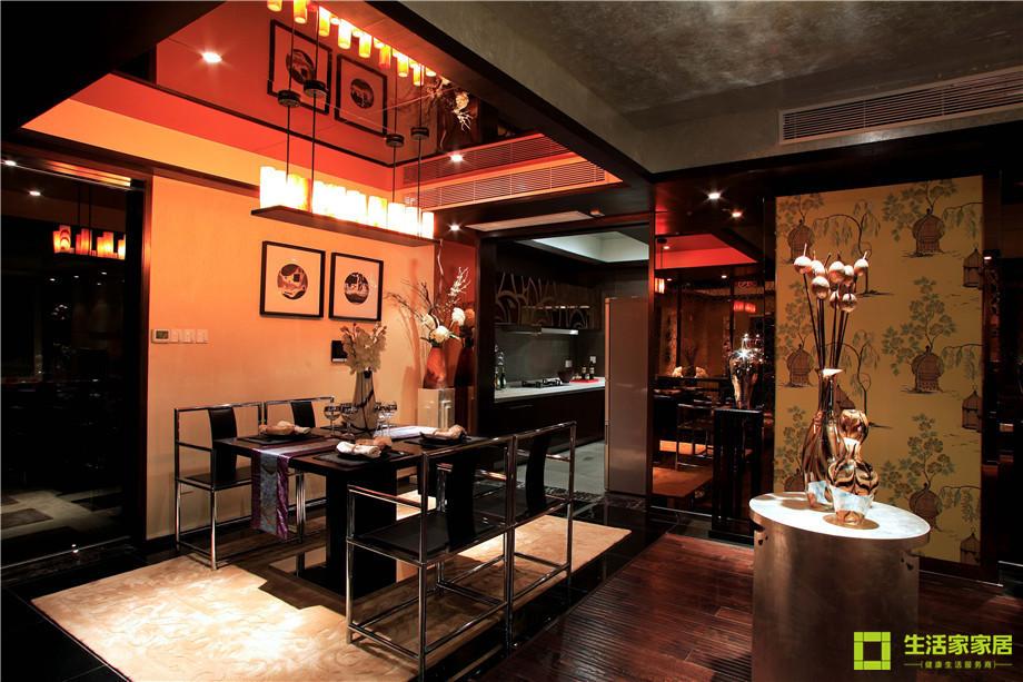 三居 小资 收纳 简约 新中式风格 中式风格 生活家家居 餐厅图片来自天津生活家健康整体家装在南益名士华庭 132的分享