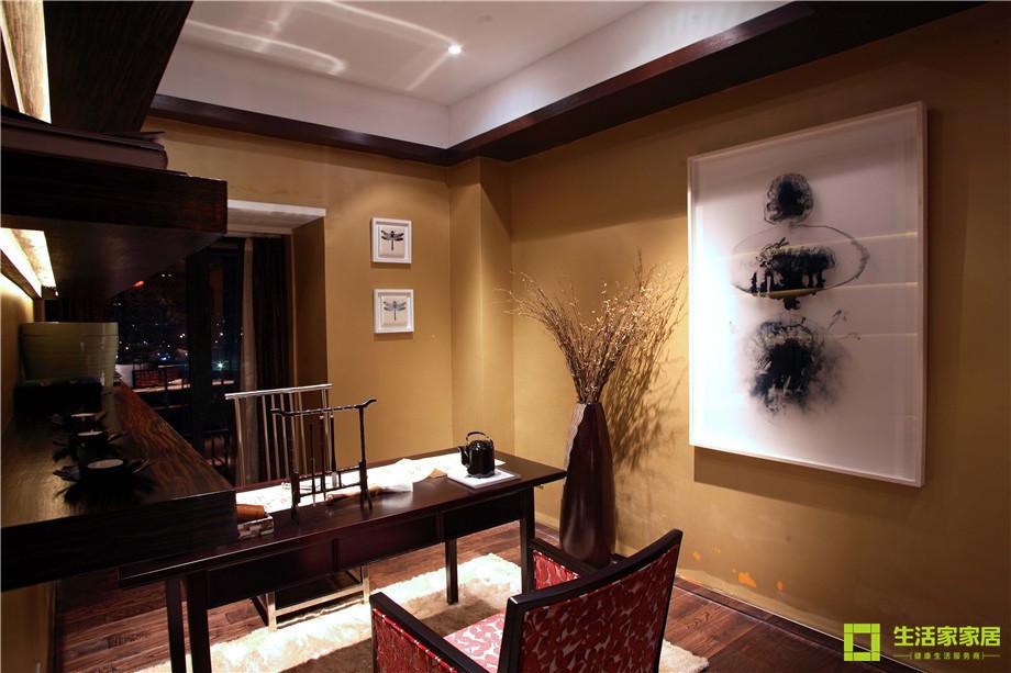 三居 小资 收纳 简约 新中式风格 中式风格 生活家家居 书房图片来自天津生活家健康整体家装在南益名士华庭 132的分享
