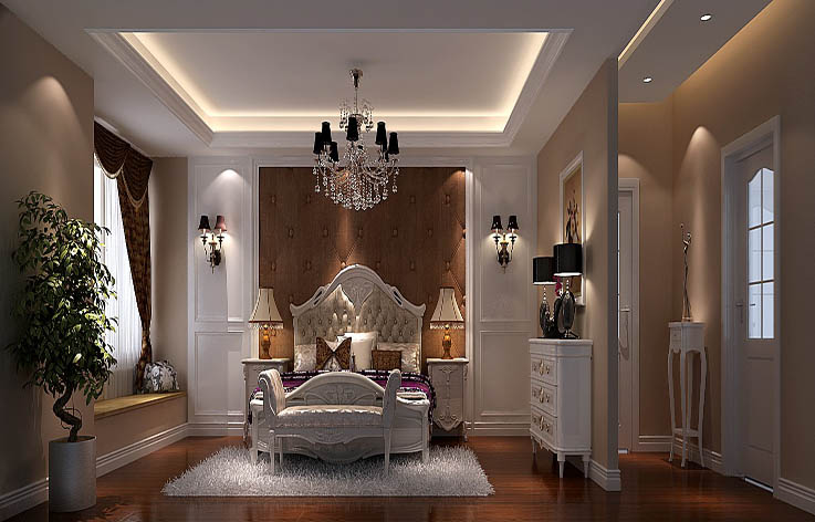 欧式 复式 80后 室内设计 家装 卧室图片来自张邯在高度国际-御翠尚府6的分享