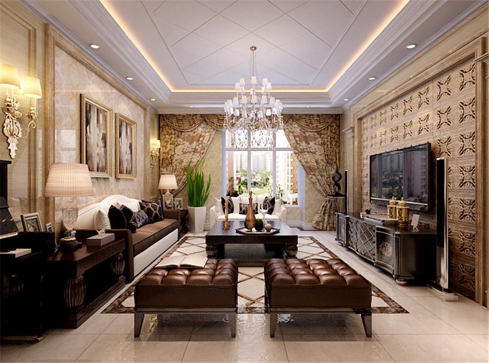 客厅图片来自阳光力天装饰在欧式   首创城  127㎡的分享