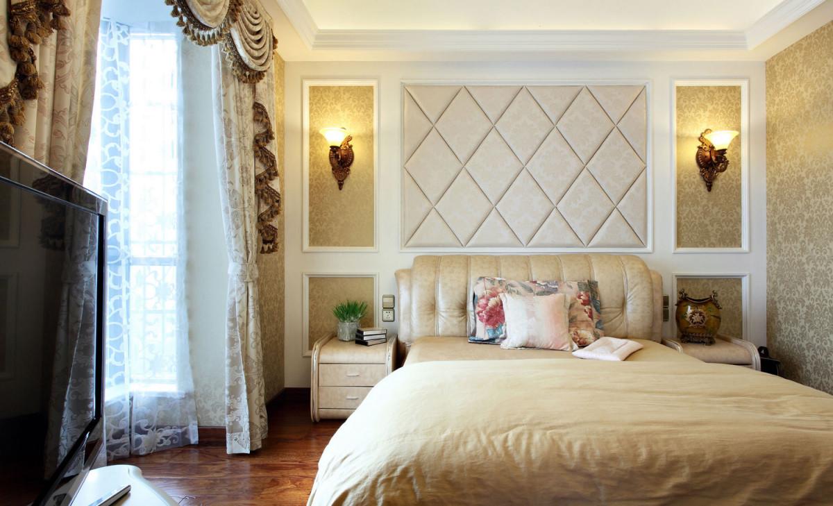 卧室图片来自北京居然元洲装饰小尼在牛驼孔雀城跃层新古典风格实景图的分享
