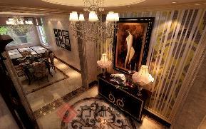 新古典 别墅 80后 小资 深色系装修 玄关图片来自方林装饰在格林玫瑰湾新古典风格案例的分享