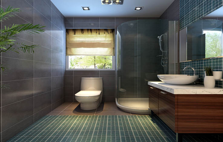 简约中式 三居 装修 室内设计 卫生间图片来自张邯在高度国际-山语城的分享