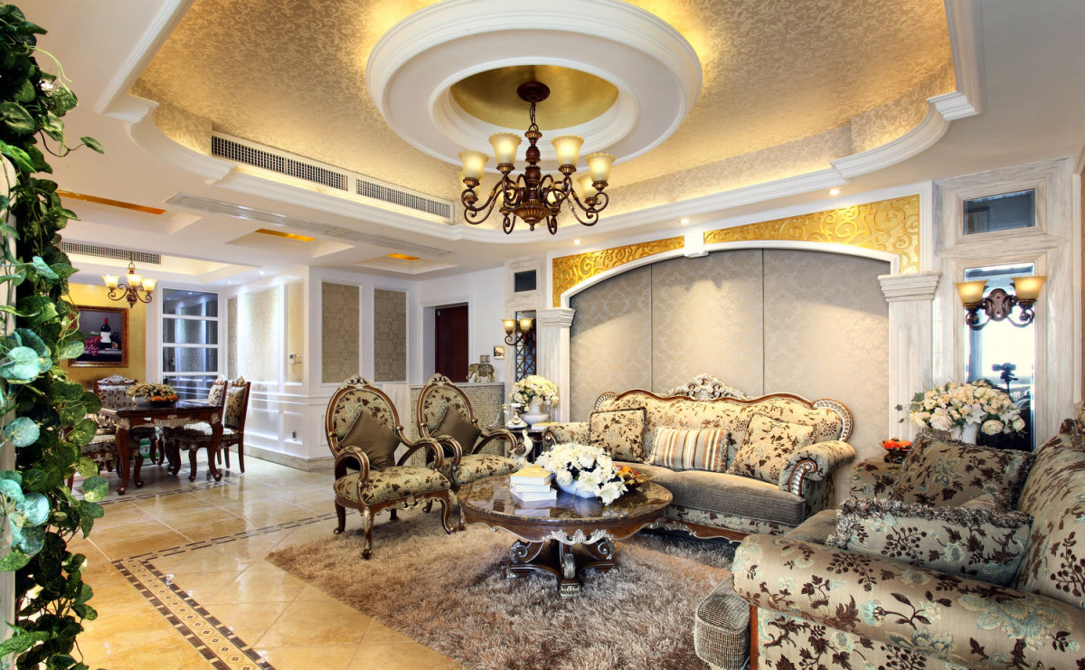 客厅图片来自北京居然元洲装饰小尼在牛驼孔雀城跃层新古典风格实景图的分享