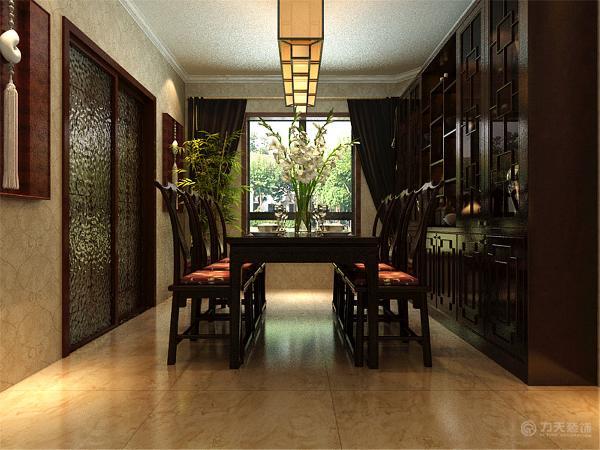 此方案的整个空间装饰采用简洁硬朗的直线条,反映出新中式的简单,质朴的设计风格。